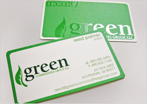 Green-Commodities-Business-Card-Design